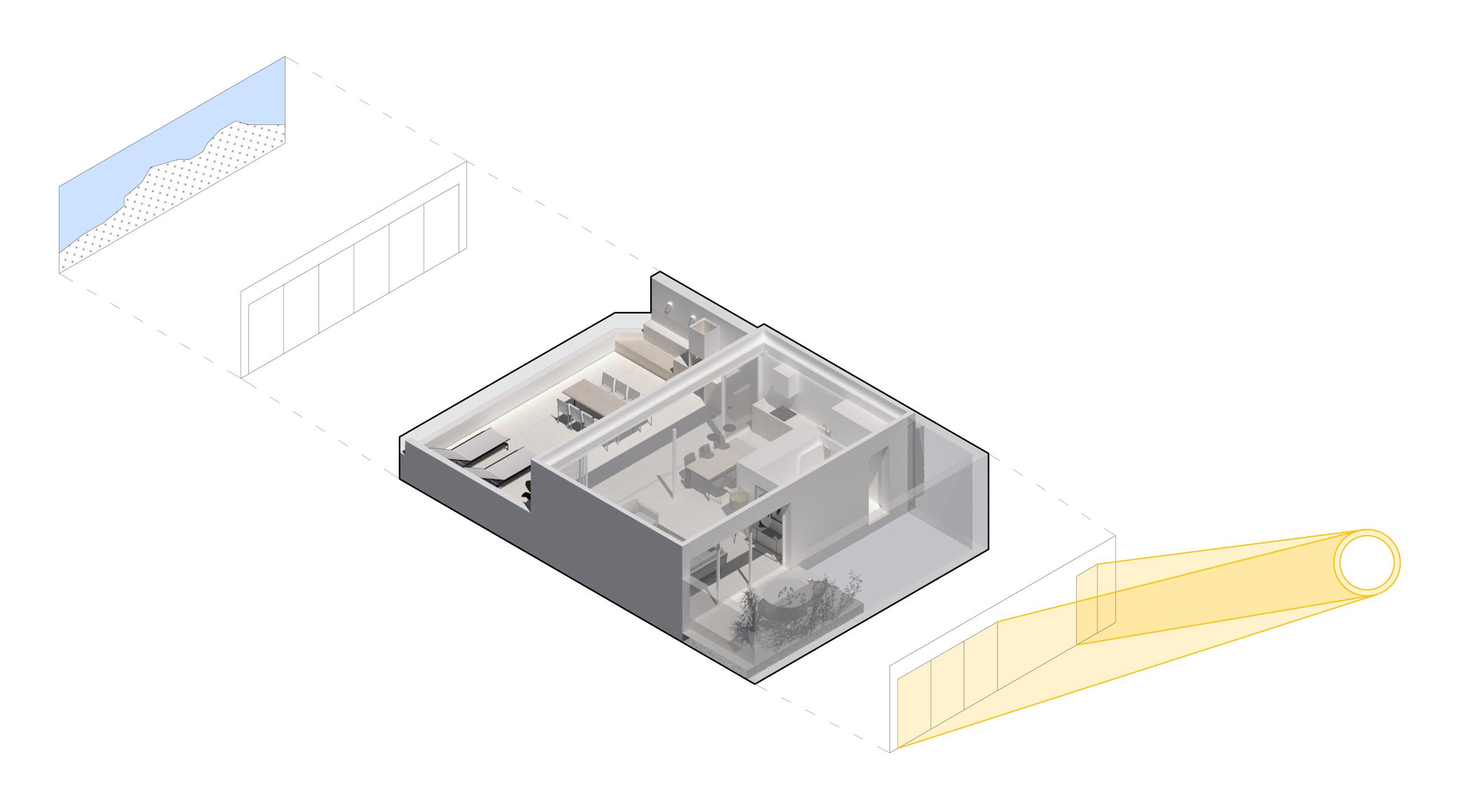 NAYA arquitectos alicante atico en la sierra de molina soleamiento