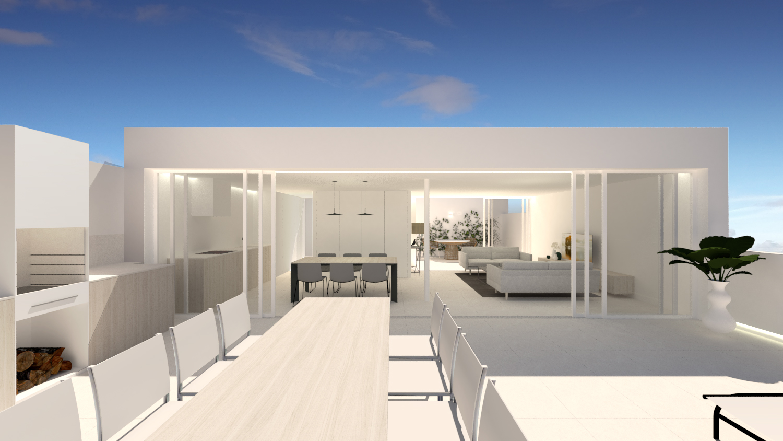NAYA arquitectos alicante atico en la sierra de molina fachada dia