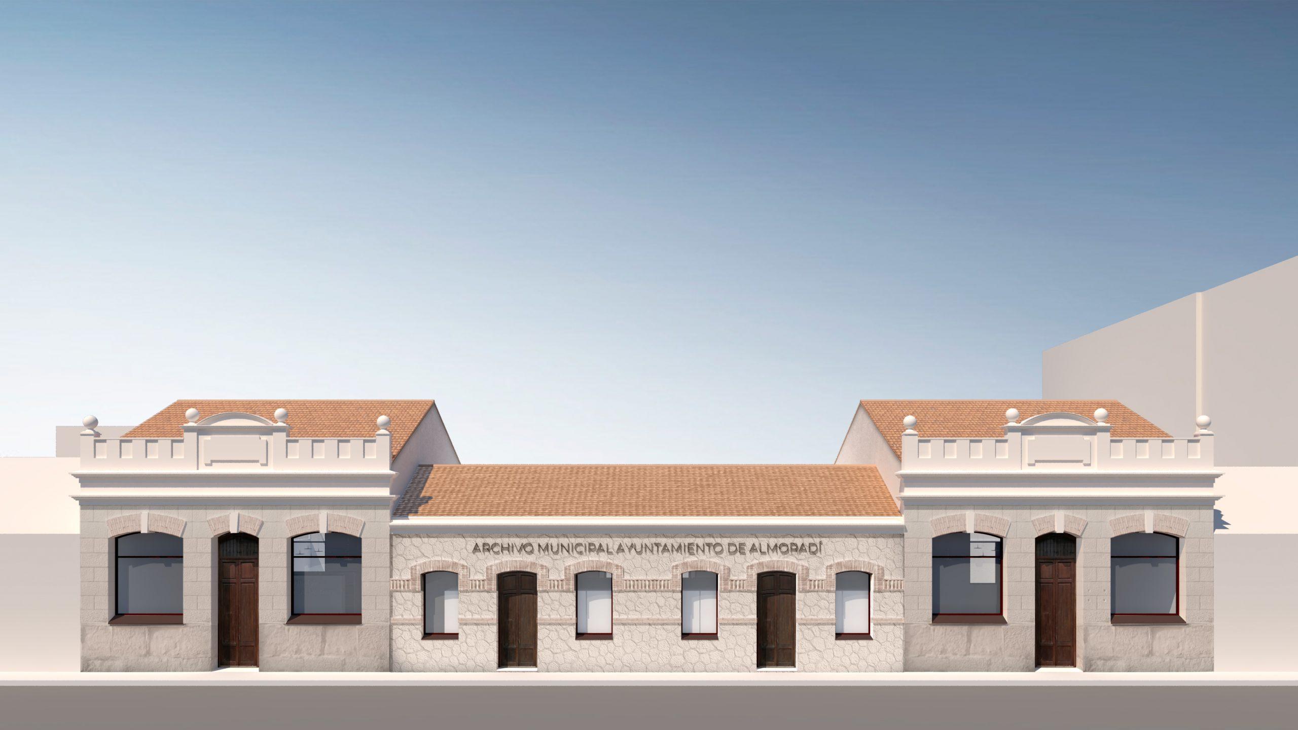 NAYA arquitectos alicante archivo municipal almoradi fachada principal
