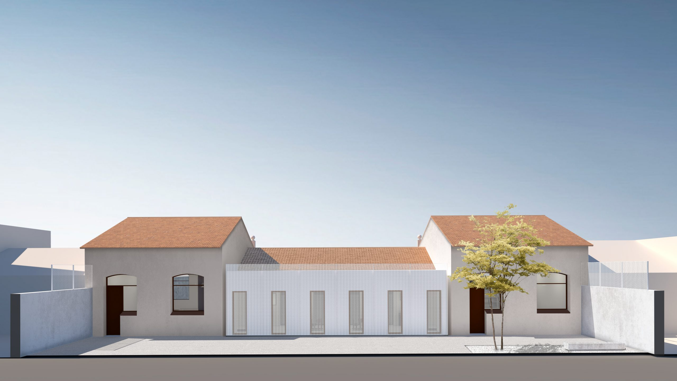 NAYA arquitectos alicante archivo municipal almoradi fachada patio