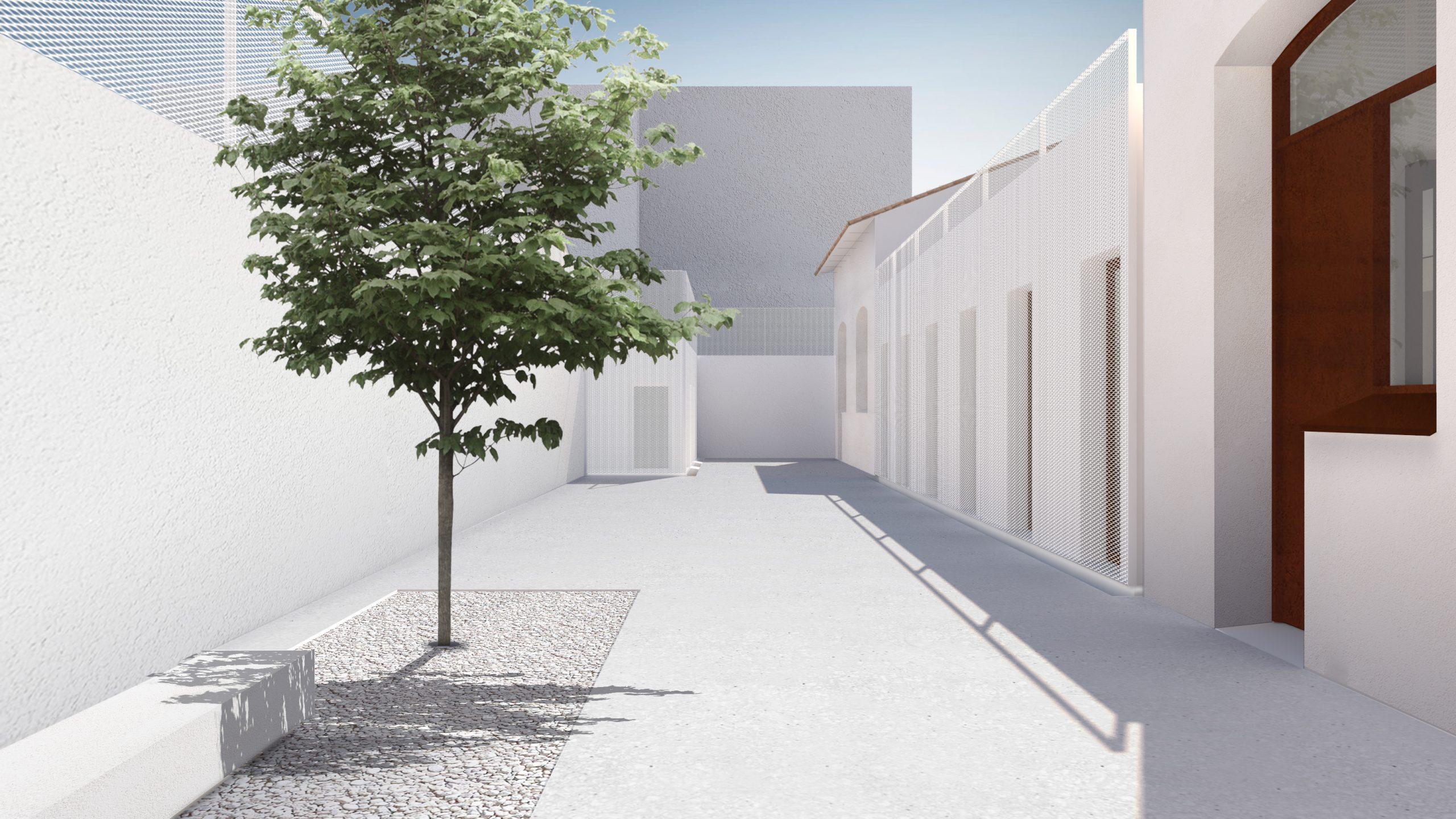 NAYA arquitectos alicante archivo municipal almoradi patio