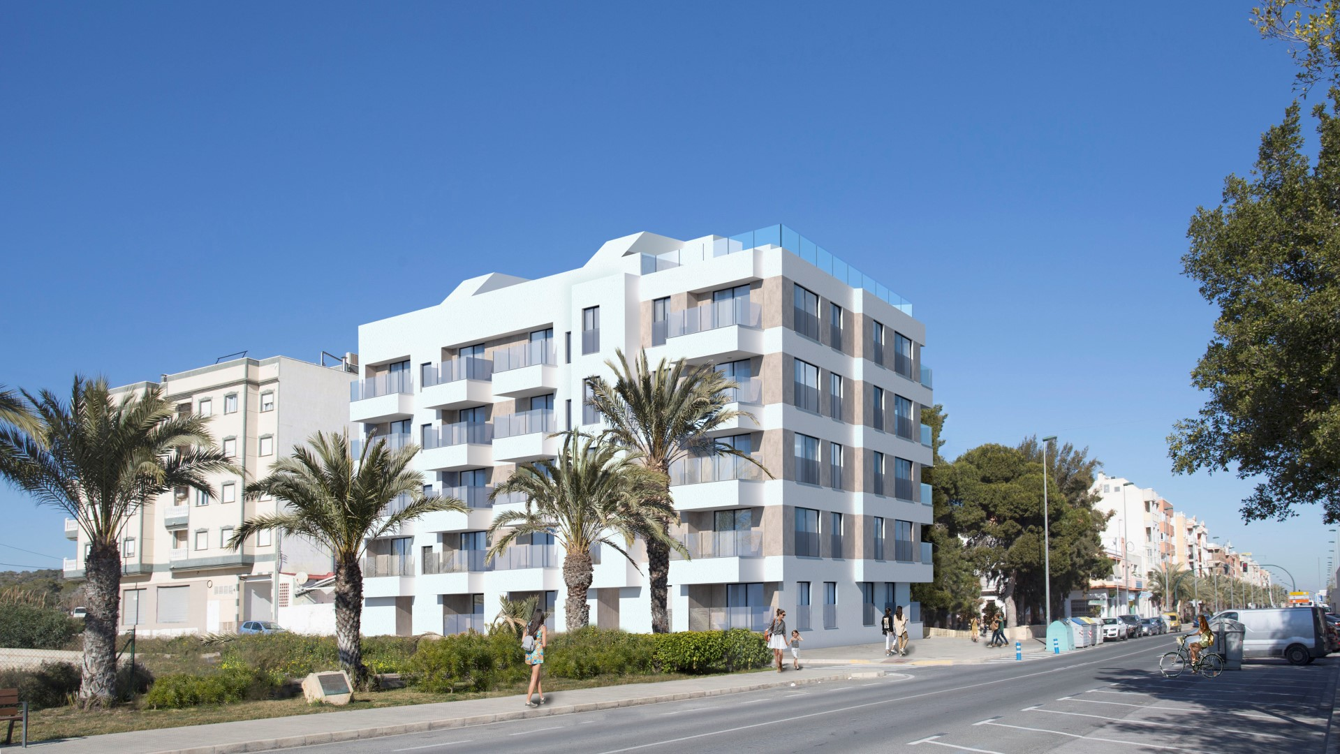 NAYA architects alicante amistad building in la marina exterior view