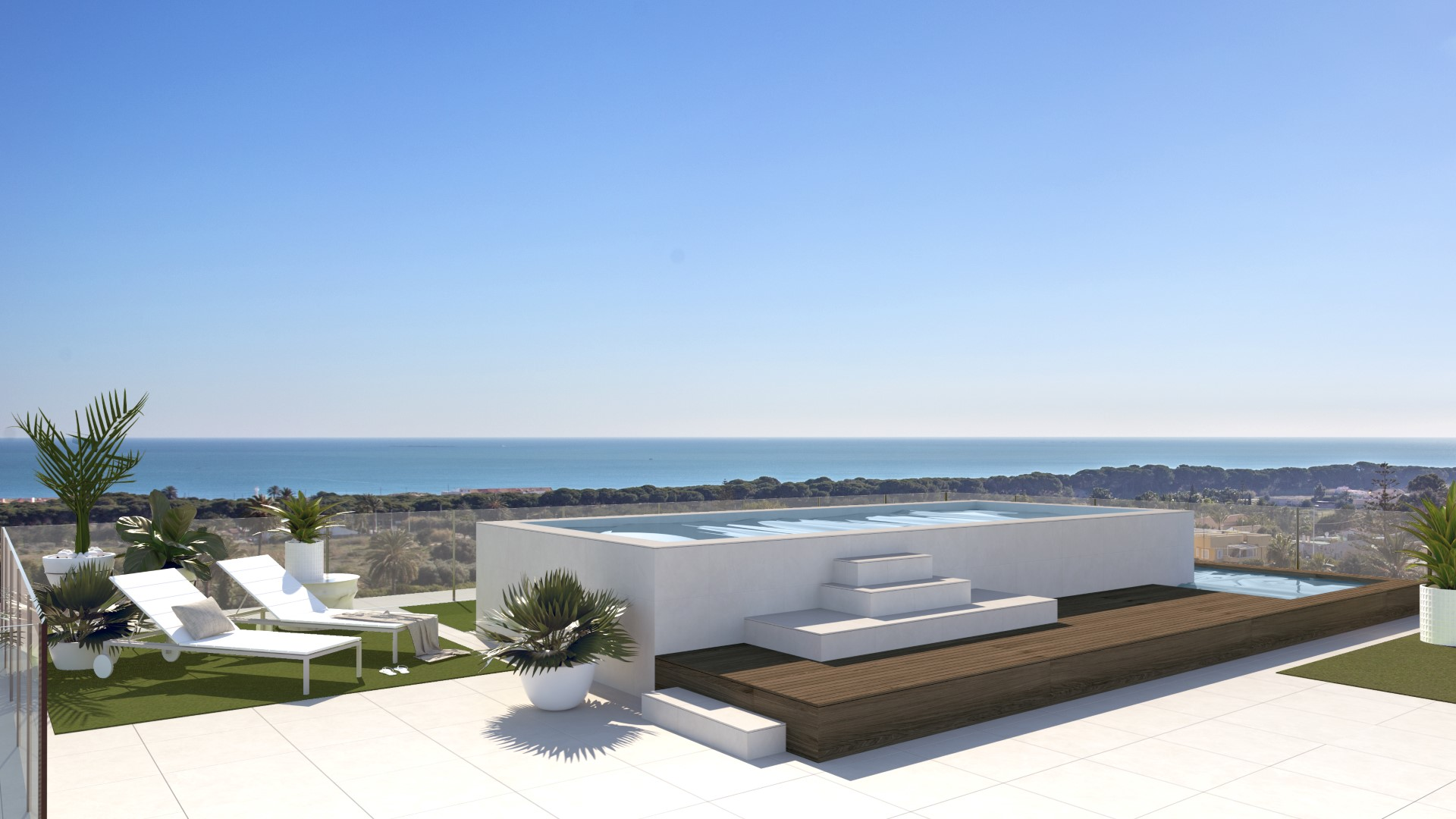 NAYA architects alicante amistad building in la marina pool