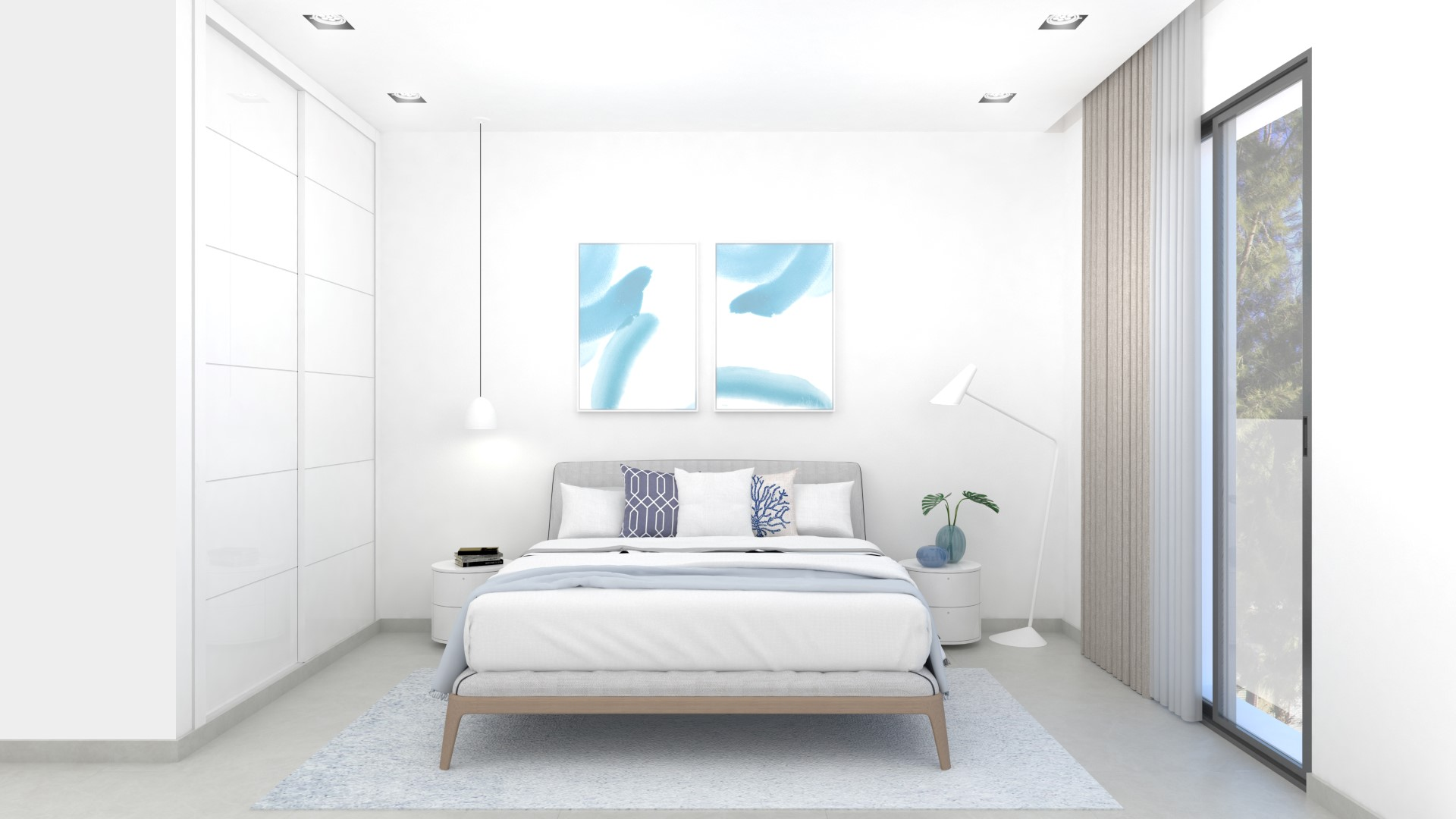 NAYA architects alicante amistad building in la marina bedroom 1