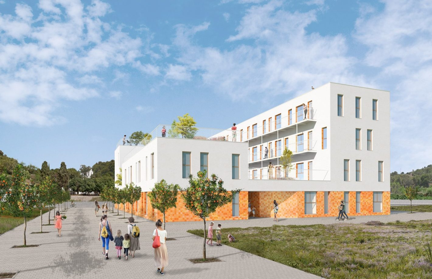 NAYA arquitectos alicante edificio social en gandia vista exterior