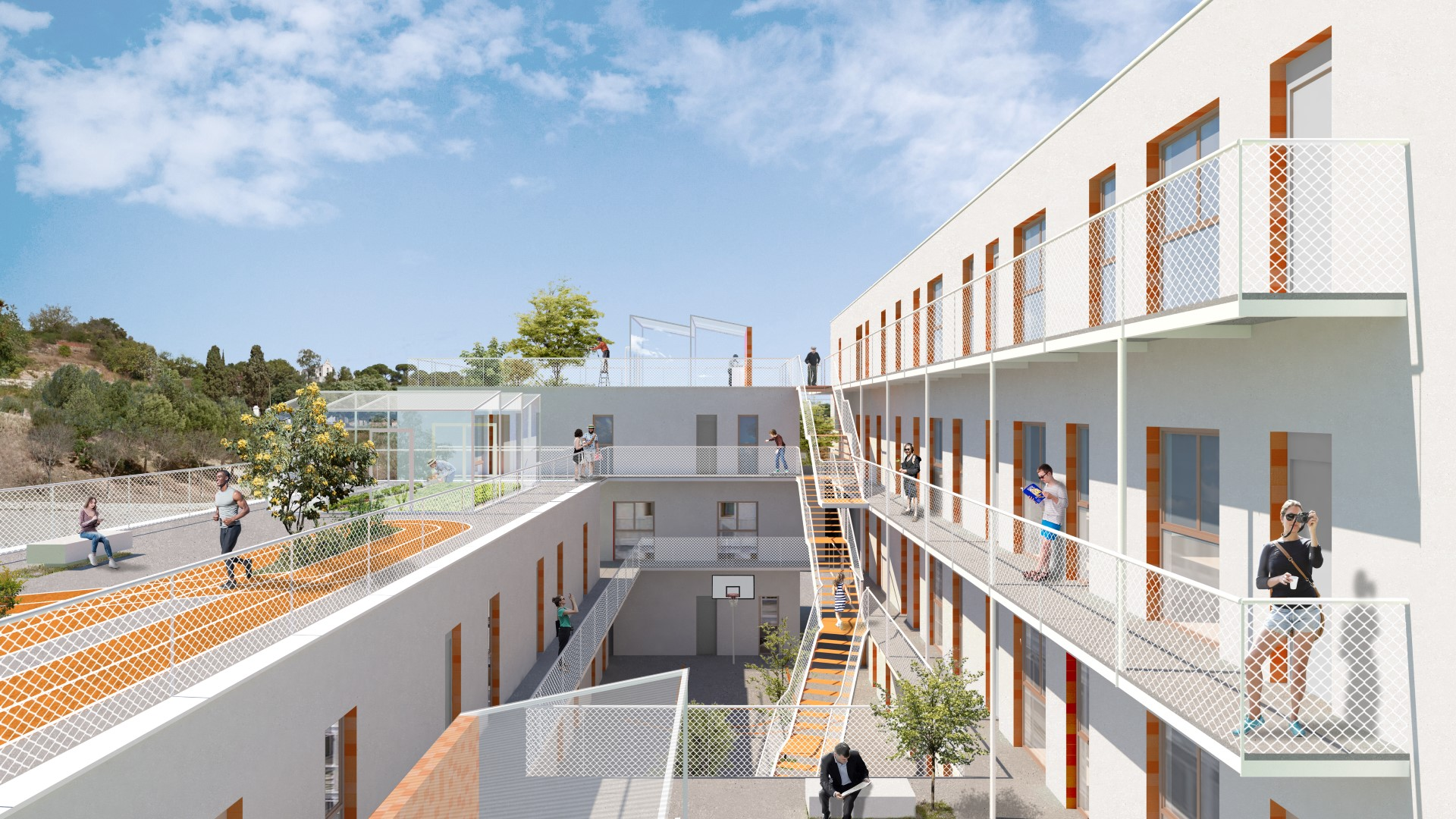 NAYA arquitectos alicante edificio social en gandia vista interior