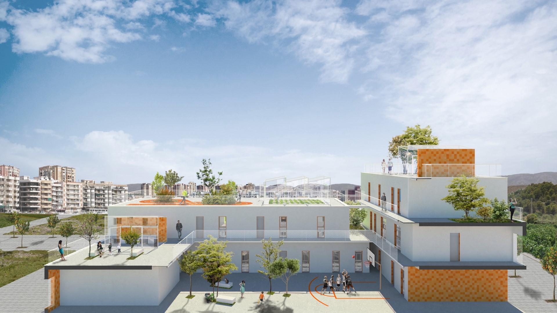 NAYA arquitectos alicante edificio social en gandia seccion
