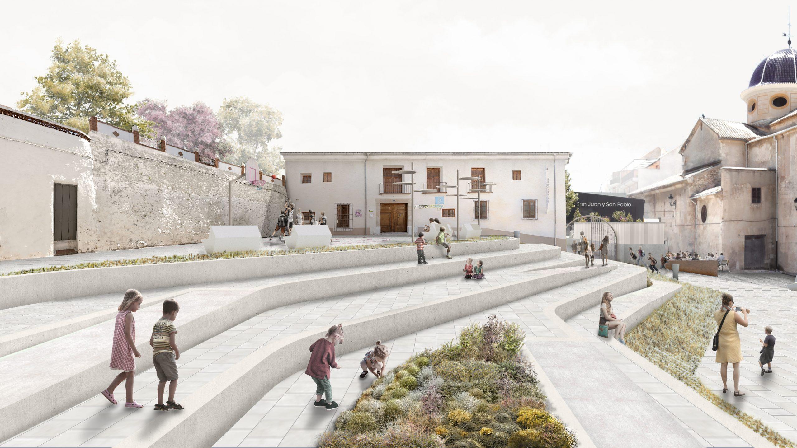 NAYA arquitectos alicante plaza de la iglesia ibi vista lateral