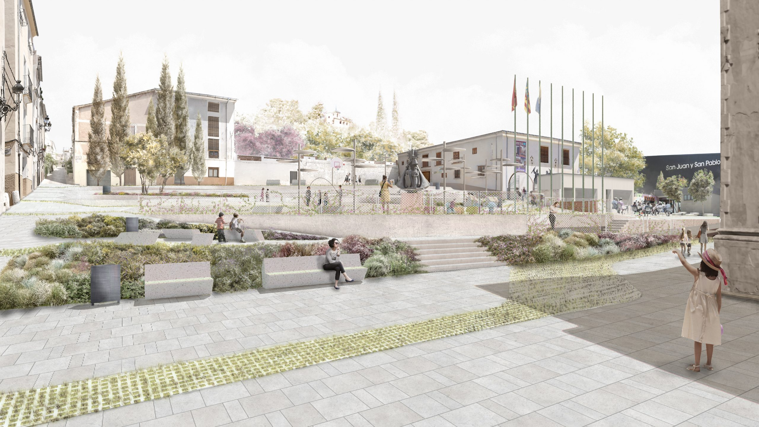 NAYA arquitectos alicante plaza de la iglesia ibi vista general