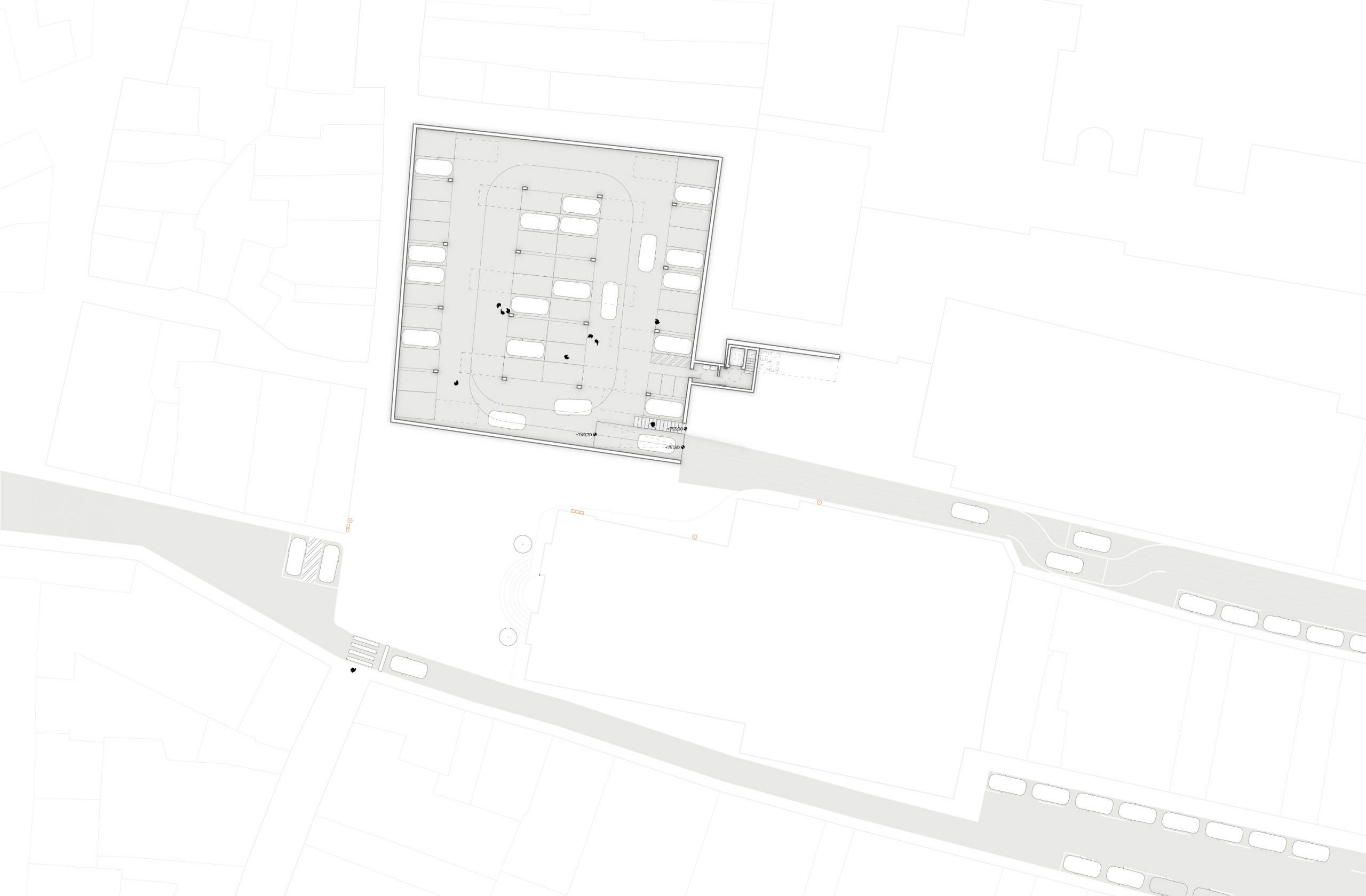 NAYA arquitectos alicante plaza de la iglesia ibi planta sótano