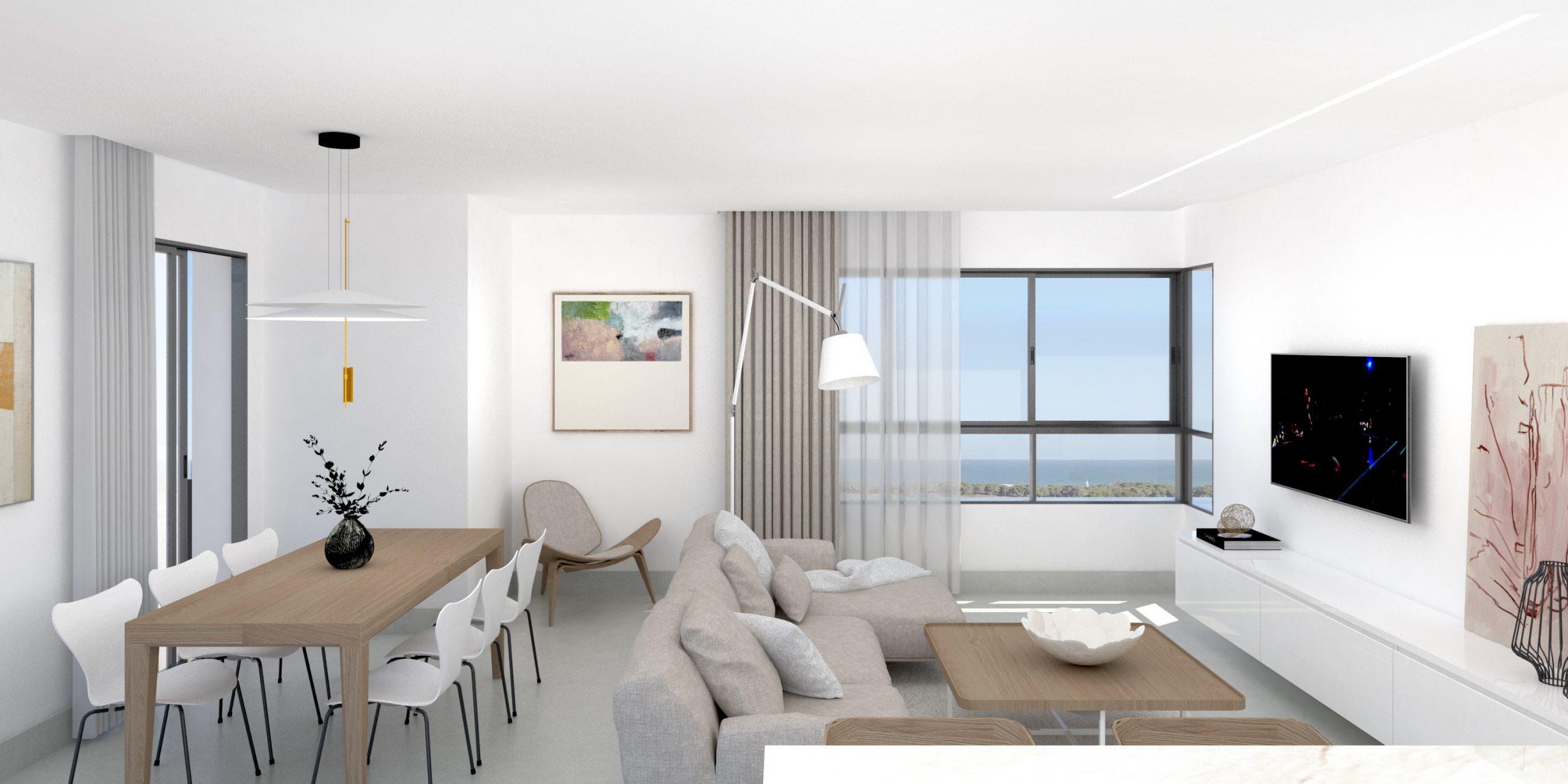 NAYA arquitectos alicante edificio la plana en la marina salon comedor desde cocina